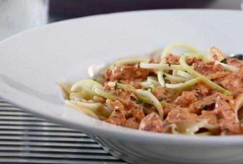 pasta med kabanossås