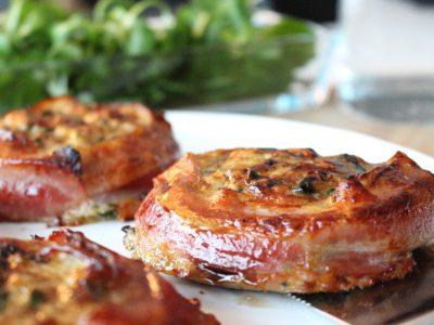 Kycklingpuckar med bacon