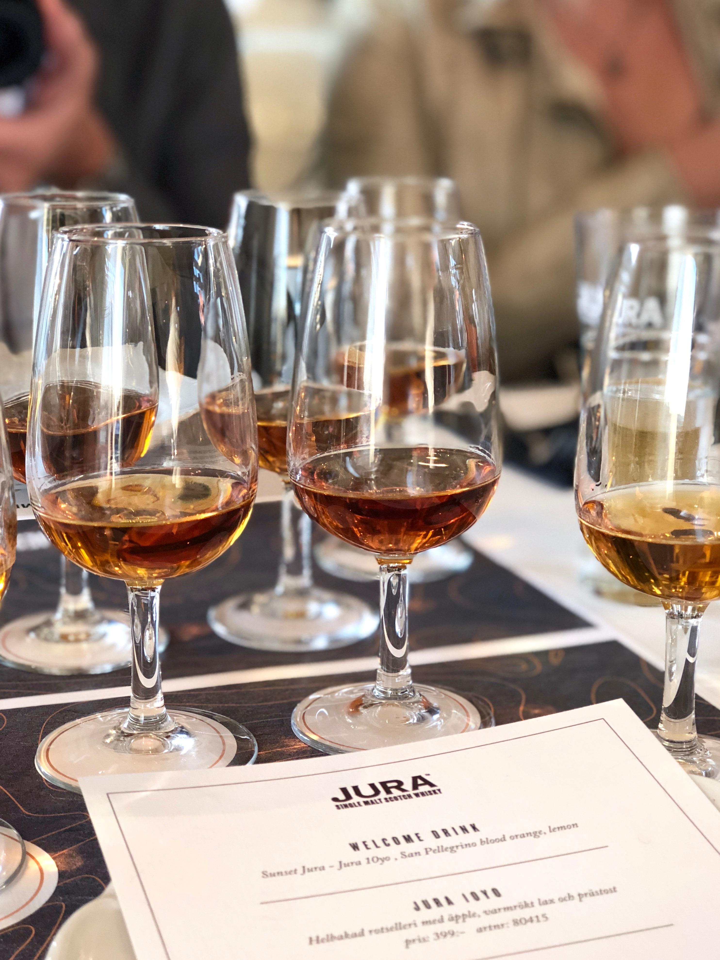 Jura Whisky provning
