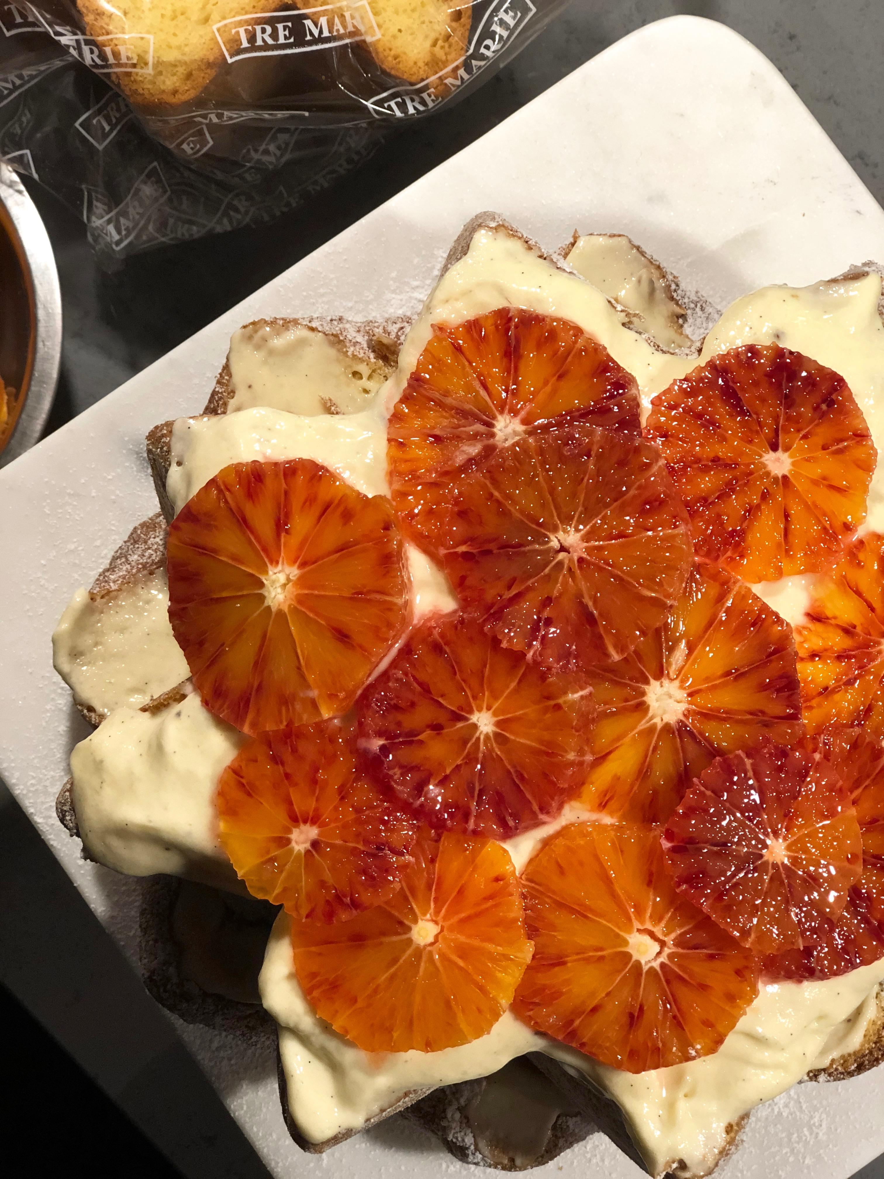 Pandorotårta med mascarponefluff