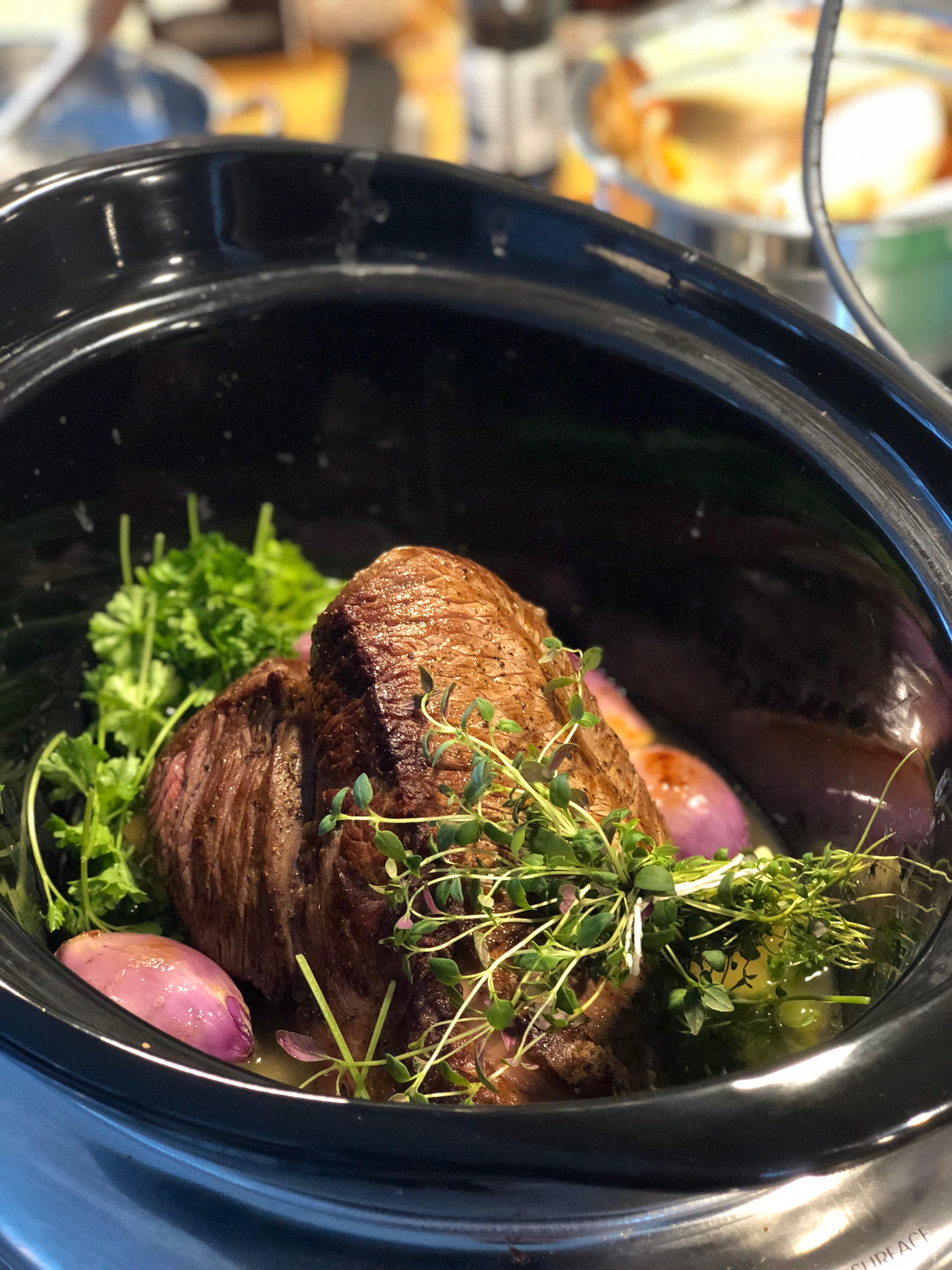 Klassisk grytstek med vintergrönsaker