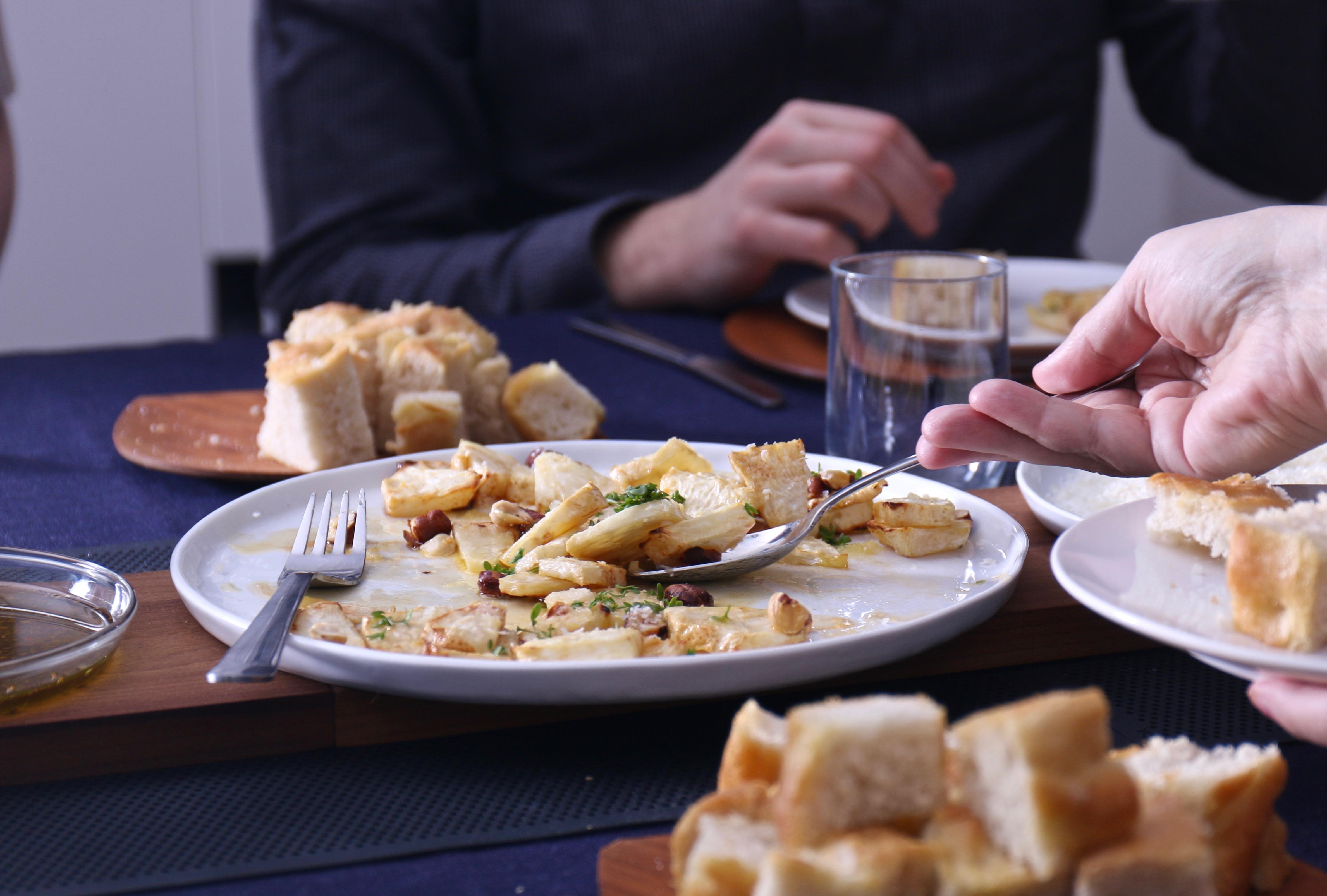 Rotselleri med brynt smör