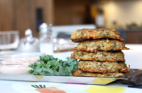 Krispiga broccoli- och ostbiffar