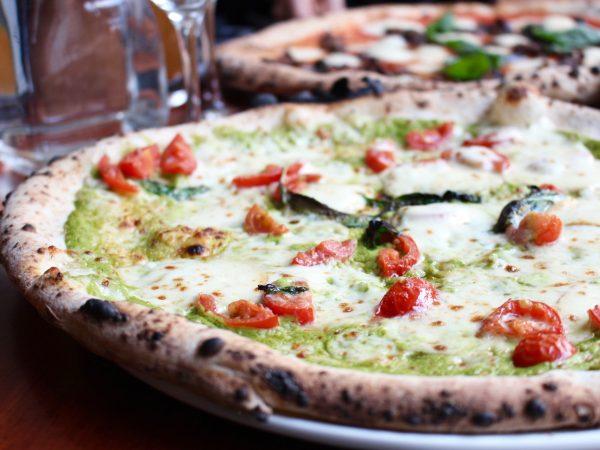 Zucchine pizza på Giro