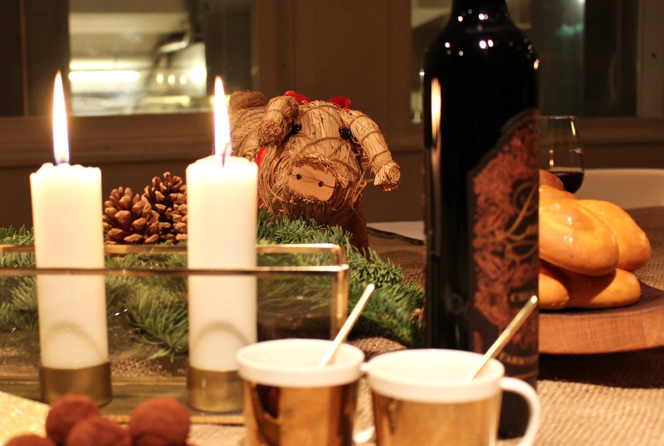 Julsallad med saffran och gönt