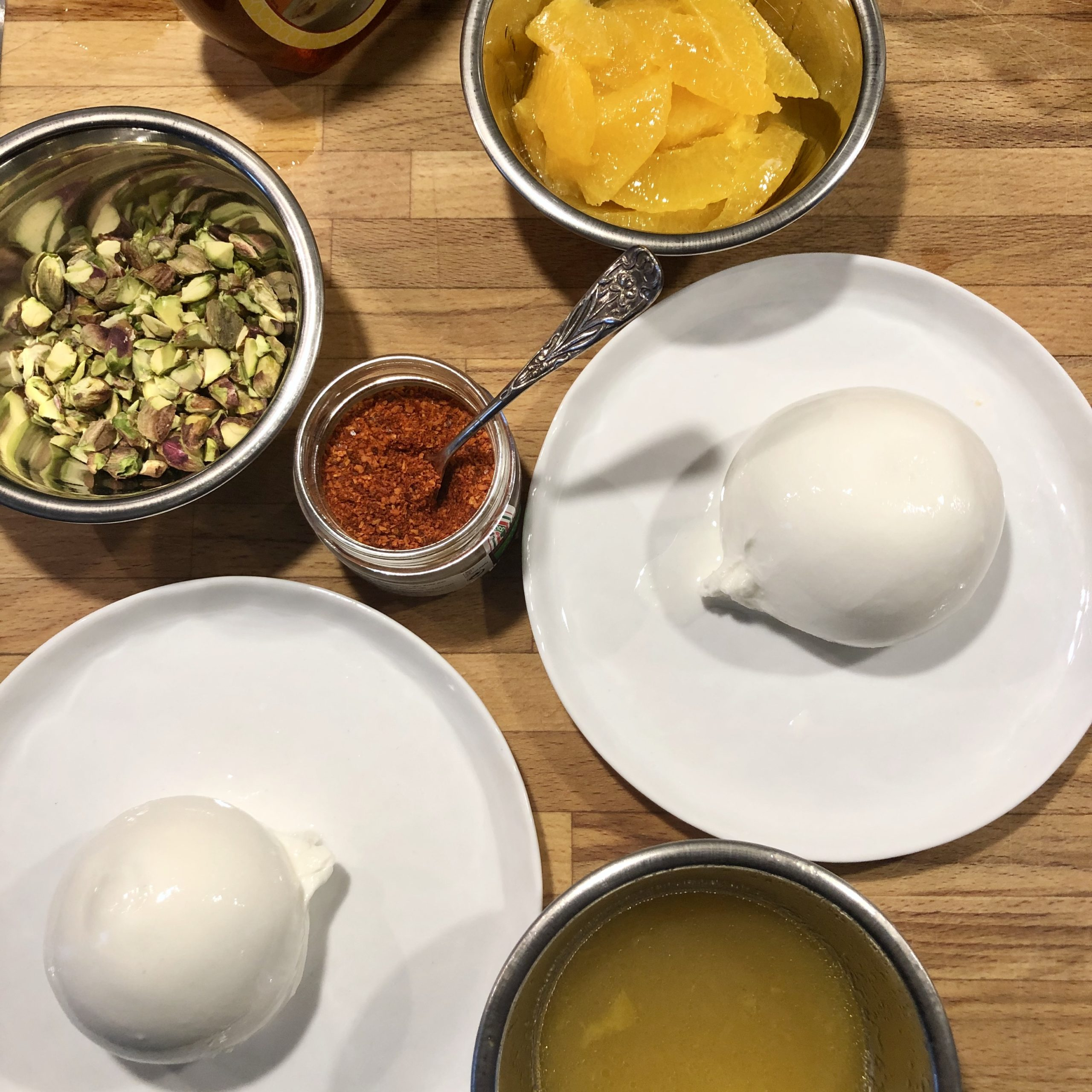 Burrata med apelsin